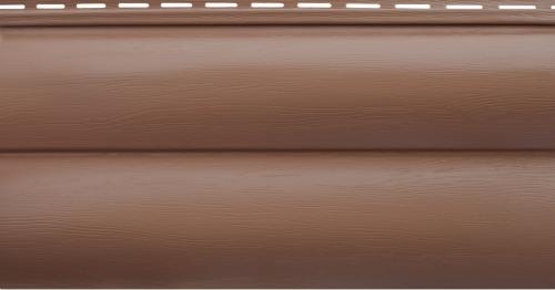 Акриловый сайдинг Альта-Профиль Блокхаус Премиум Двухпереломный BH-02 (Красно-коричневый), 3,1м