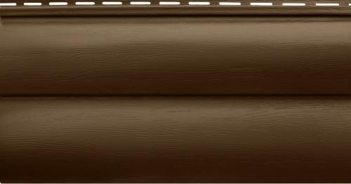 Акриловый сайдинг Альта-Профиль Блокхаус Премиум Двухпереломный BH-02 (Орех тёмный), 3,1м