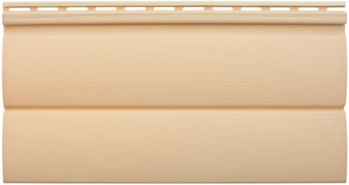 Виниловый сайдинг Альта-Профиль Блокхаус Престиж Двухпереломный малый BH-03 (Золотистый), 3,1м