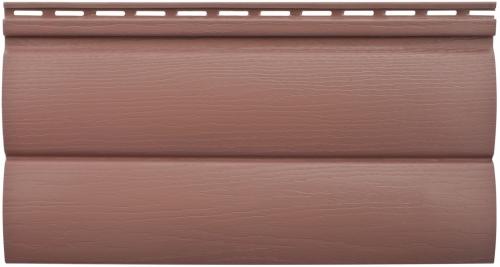 Акриловый сайдинг Альта-Профиль Блокхаус Премиум Двухпереломный малый BH-03 (Красно-коричневый), 3,1м