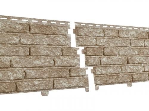 Фасадная панель Ю-Пласт Стоун хаус Кварцит (Светло-Бежевый)
