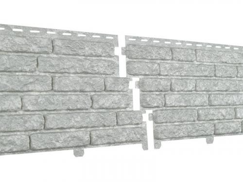 Фасадная панель Ю-Пласт Стоун хаус Кварцит (Светло-Серый)