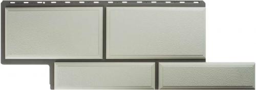 Фасадная панель Альта-Профиль Камень Флорентийский (Белый)