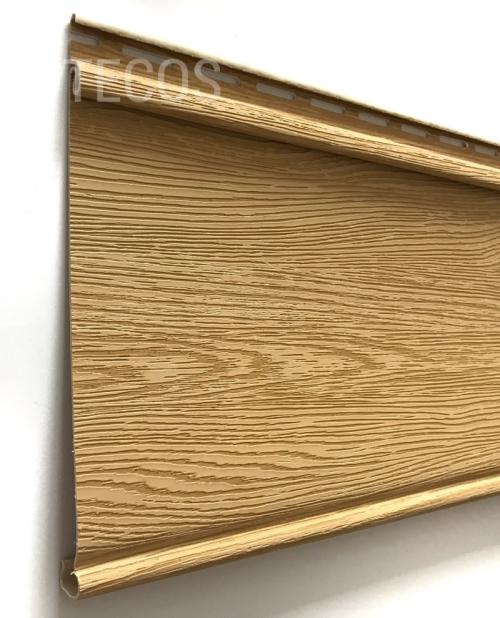 Крашеный сайдинг Tecos Люкс Облицовочная доска (Ангарская сосна), 3,66м