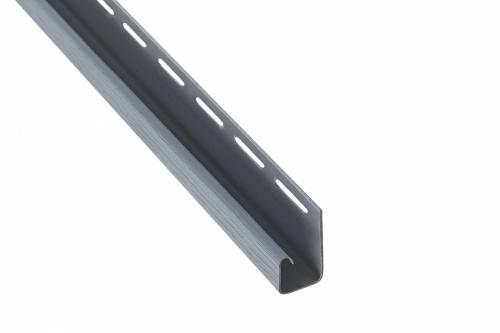 Планка J-trim Альта-Профиль светло-серая, 3м