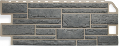 Фасадная панель Альта-Профиль Камень (Серый)