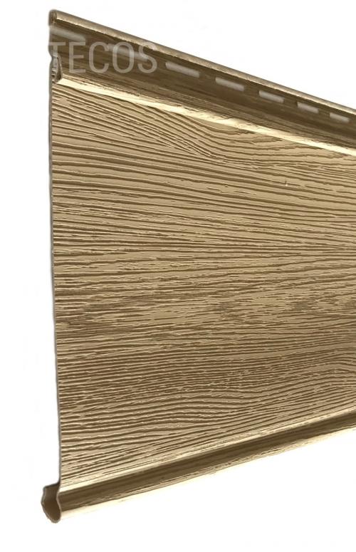 Крашеный сайдинг Tecos Люкс Облицовочная доска (Сибирский кедр), 3,66м
