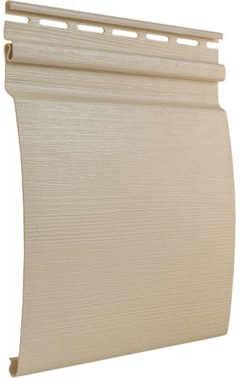 Виниловый сайдинг Tecos Ardennes Блок-хаус одинарный (Слоновая кость), 3,66м
