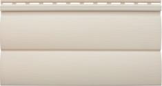 Виниловый сайдинг Альта-Профиль Блокхаус Престиж Двухпереломный малый BH-03 (Бежевый), 3,1м