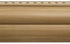 Крашеный  сайдинг Альта-Профиль Блокхаус Люкс Двухпереломный  малый BH-03 (Каштан), 3м