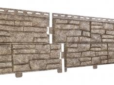 Фасадная панель Ю-Пласт Стоун Хаус Сланец (Бурый)