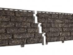Фасадная панель Ю-Пласт Стоун хаус Кварцит (Коричневый)