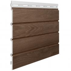 Вспененный сайдинг VOX Kerrafront Wood Effect Четверная (Caramel Oak), 2.95м