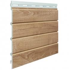 Вспененный сайдинг VOX Kerrafront Wood Effect Четверная (Malt Oak), 2.95м