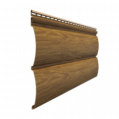 Виниловый сайдинг Docke Lux Под  дерево Блок-Хаус D4.7T (Миндаль) 3,6м