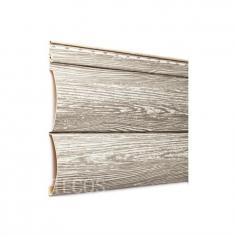 Крашеный сайдинг Tecos Люкс Блок-хаус Двойной (Алтайская береза), 3,66м