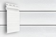 Виниловый сайдинг Grand Line Классика Natural-брус (белый), 3м