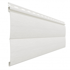 Виниловый сайдинг Доломит Блок-хаус (Белый), 3,6м