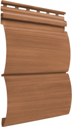 Акриловый сайдинг Tecos Natural wood effect Блок-Хаус Двойной (Европейский клен), 3,66м