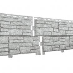 Фасадная панель Ю-Пласт Стоун хаус Сланец (Светло-серый)