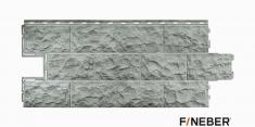 Фасадная панель Fineber Дачный Доломит (Светло-серый), 1,14м