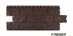 Фасадная панель Fineber Дачный Доломит (Темно-коричневый), 1.14м