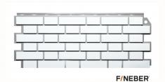 Фасадная панель Fineber Дачный Кирпич клинкерный (Белый), 1.13м