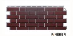 Фасадная панель Fineber Дачный Кирпич клинкерный (Жженый), 1.13м