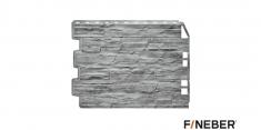 Фасадная панель Fineber Дачный Скол (Светло-серый), 0,79м
