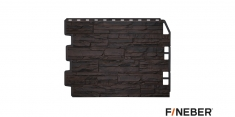 Фасадная панель Fineber Дачный Скол (Темно-коричневый), 0,79м