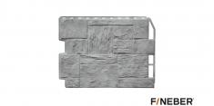 Фасадная панель Fineber Дачный Туф (Светло-серый), 0,79м
