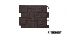 Фасадная панель Fineber Дачный Туф (Темно-коричневый), 0,79м