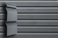 Акриловый сайдинг Grand Line Акрил. Премиум-коллекция Корабельный брус (Графит), 3,6м