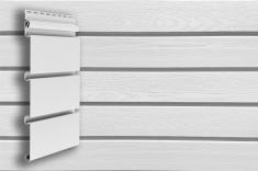 Архитектурный сайдинг Grand Line Классика Планкен (Белый), 3м