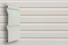 Виниловый сайдинг Grand Line Классика Корабельный брус слим (Белый), 3,0м