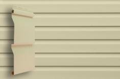 Виниловый сайдинг Grand Line Классика Корабельный брус слим (Слоновая кость), 3,0м
