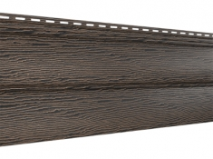 Виниловый сайдинг Ю-Пласт Тимберблок Дуб (Мореный), 3,4м