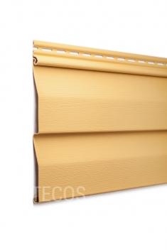 Виниловый сайдинг Tecos Ardennes Корабельный брус (Золотой песок), 3,66м