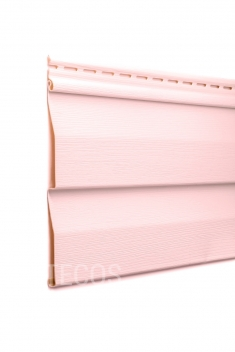 Виниловый сайдинг Tecos Ardennes Корабельный брус (Светло-розовый), 3,66м