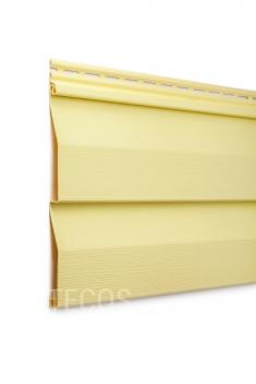 Виниловый сайдинг Tecos Ardennes Корабельный брус (Светло-желтый), 3,66м
