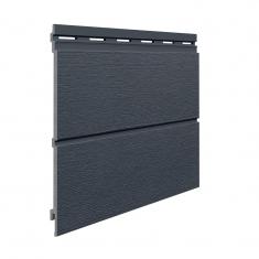 Вспененный сайдинг VOX Kerrafront Modern Wood Двойная (Anthracite), 2.95м