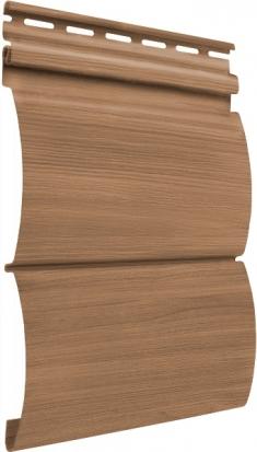 Акриловый сайдинг Tecos Natural wood effect Блок-Хаус Двойной (Ливанский кедр), 3,66м