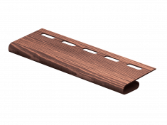 Завершающая планка Ю-Пласт Тимберблок Дуб (Мореный), 3м