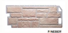 Фасадная панель Fineber Standart Камень (Бежевый), 1,13 м