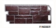 Фасадная панель Fineber Standart Камень (Коричневый), 1,13 м