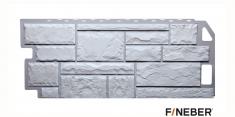 Фасадная панель Fineber Standart Камень (Мелованный белый), 1,13 м