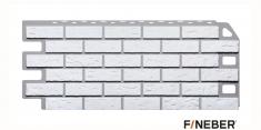 Фасадная панель Fineber Standart Кирпич (Мелованный белый), 1,13 м