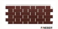Фасадная панель Fineber Standart Кирпич облицовочный (Коричневый), 1,13 м