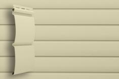 Виниловый сайдинг Grand Line Классика Блок-хаус (Слоновая кость), 3,0м