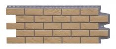 Фасадная панель GRAND LINE Состаренный кирпич (Солома), 1,10м